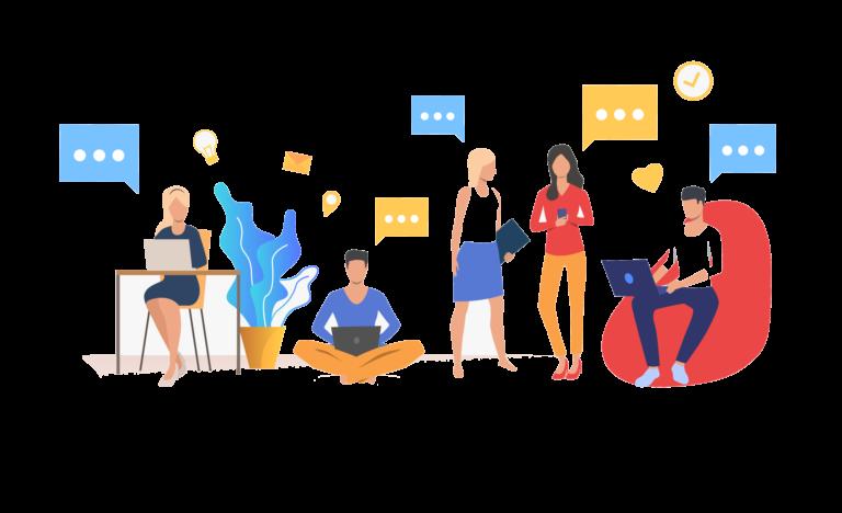 Illustrasjon av intern kommunikasjon i bedriften