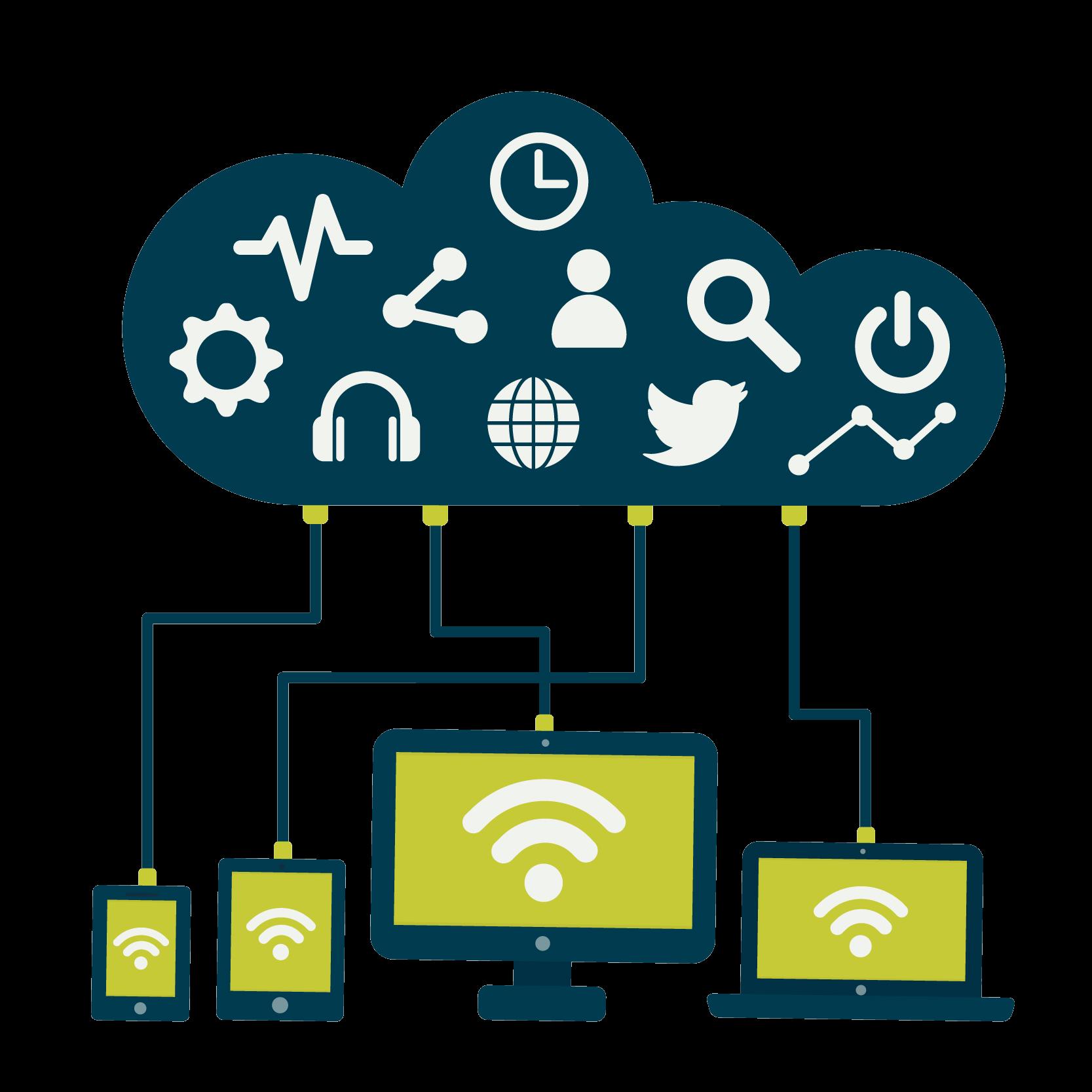 Illustrasjon av PowerApps - forretningsapplikasjoner